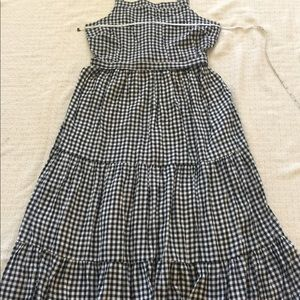 Old Navy Black & White Plaid Maxi Dress Sz L